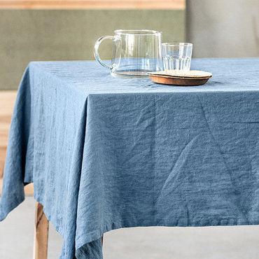 Для дома и интерьера ручной работы. Ярмарка Мастеров - ручная работа Льняная скатерть из мягкого льна - Столовое белье из льна. Handmade.