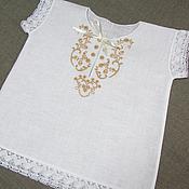 Работы для детей, handmade. Livemaster - original item baptismal shirt. art. 001. Handmade.