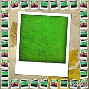 "Материалы для творчества handmade. Livemaster - original item A diagram and description of blanket ""Fun company"". Knitting needles.. Handmade."