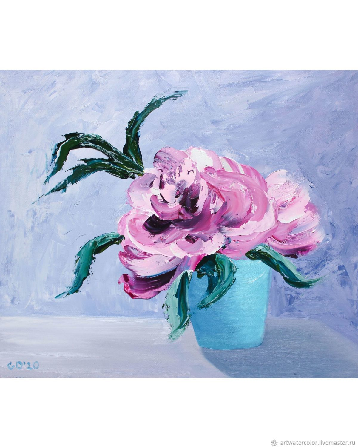 Oil painting Peonies in a vase still Life with flowers, Pictures, Vidnoye,  Фото №1