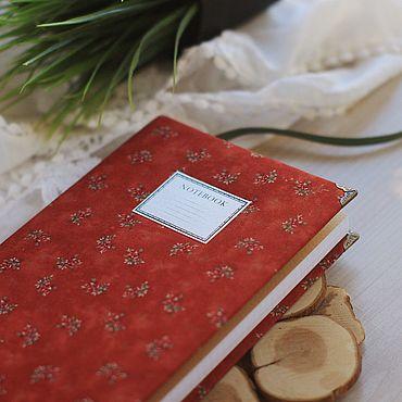 Stationery handmade. Livemaster - original item notebooks: Notepad with fabric cover / A5 / Sketchbook / Diary. Handmade.