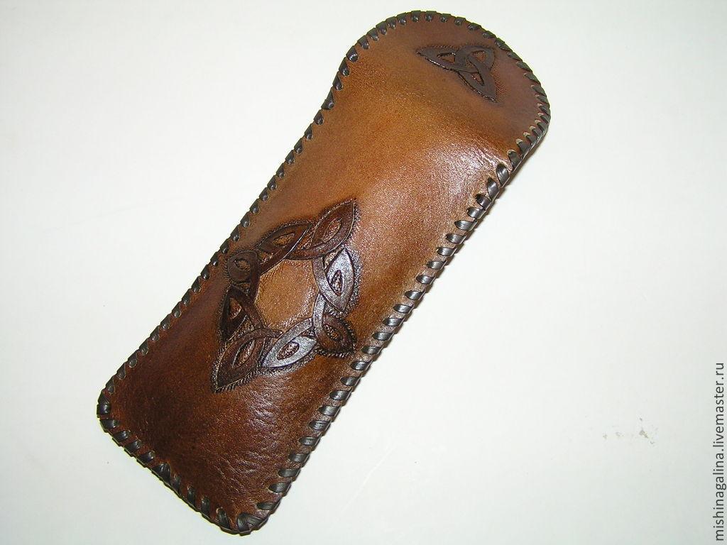 Футляр для очков из натуральной кожи мужской.Продан