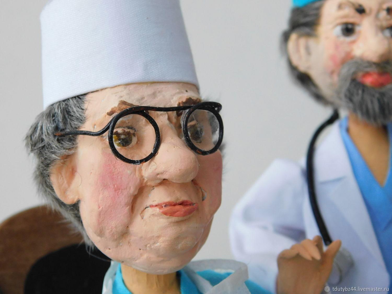 Авторская кукла КОНСИЛИУМ ВРАЧЕЙ, Портретная кукла, Москва,  Фото №1
