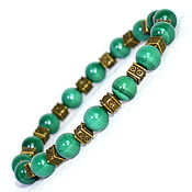 Украшения handmade. Livemaster - original item Men`s bracelet made of natural malachite. Handmade.