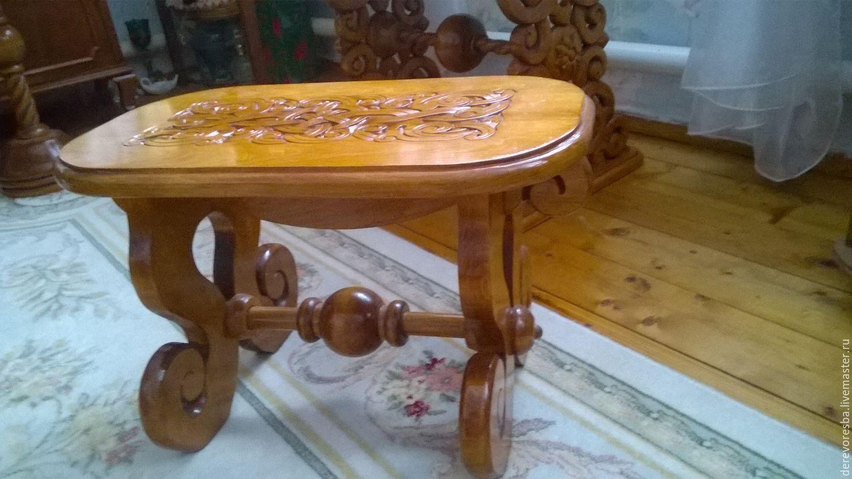 Резные столы и стулья из дерева своими руками фото