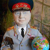 Куклы и игрушки handmade. Livemaster - original item GENERAL felted portrait sculpture. Handmade.