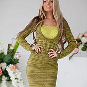 Одежда handmade. Livemaster - original item Dress Melange green. Handmade.
