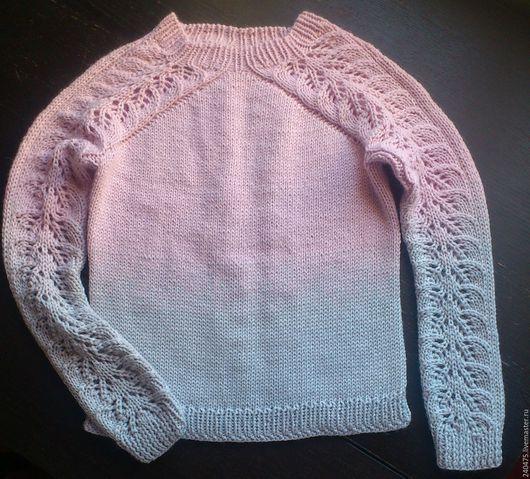 Одежда унисекс ручной работы. Ярмарка Мастеров - ручная работа. Купить детский с градиентом. Handmade. Бледно-розовый, джемпер