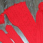 Аксессуары ручной работы. Ярмарка Мастеров - ручная работа Комплект: Шарф-капюшон(башлык) с варежками из шерсти. Handmade.