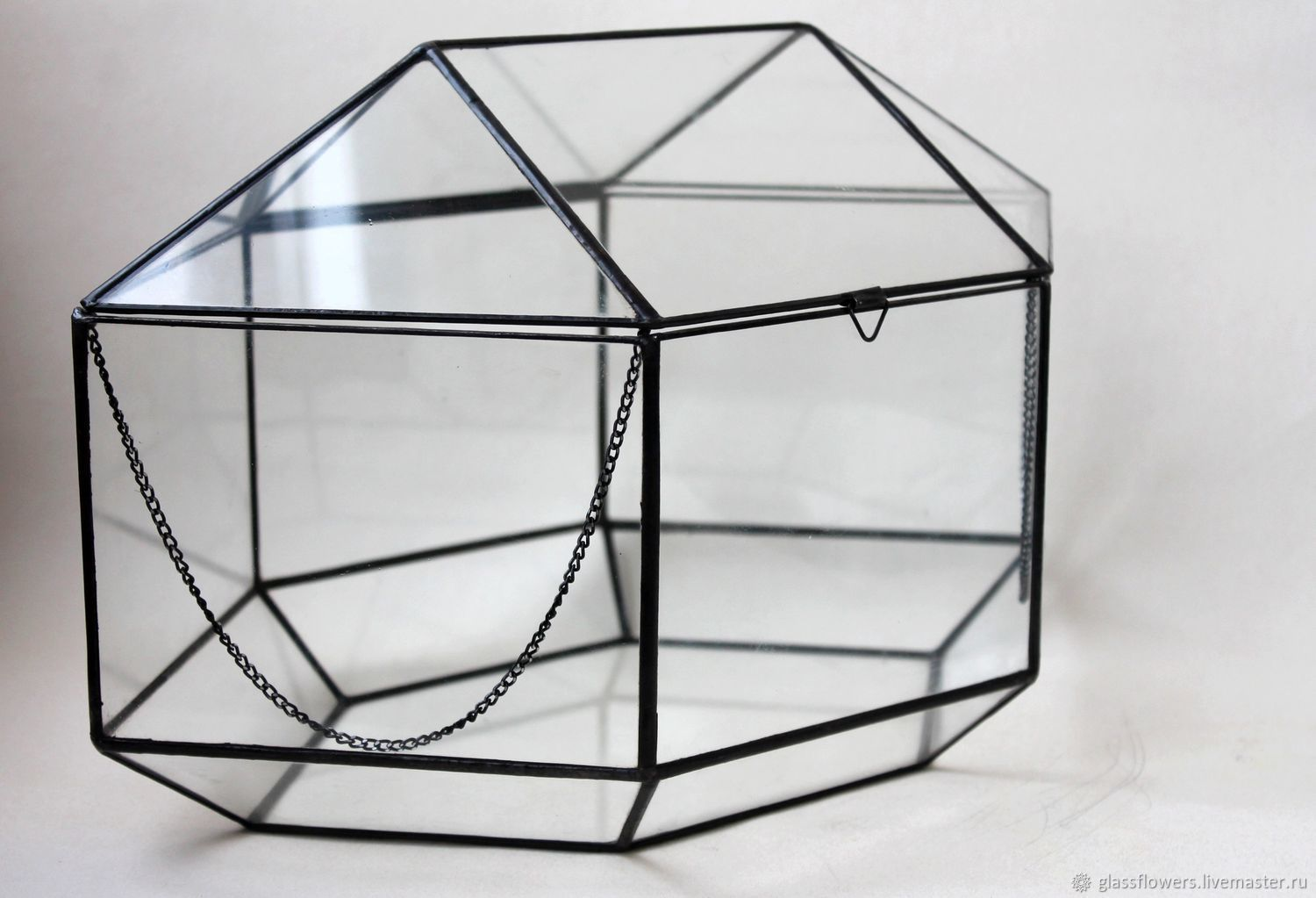 Large glass chest. The casket. Wedding box, Chests, St. Petersburg,  Фото №1