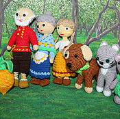 handmade. Livemaster - original item The Tale Of The Turnip. A gift to the caregiver. Characters of Russian fairy tales.. Handmade.