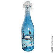 Подарки к праздникам ручной работы. Ярмарка Мастеров - ручная работа Декор бутылки на Новый год, свадьбу.... Handmade.