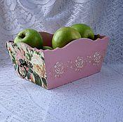 """Для дома и интерьера ручной работы. Ярмарка Мастеров - ручная работа Короб для хранения """"Розовый зефир"""". Handmade."""