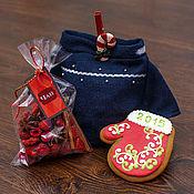 Подарки к праздникам ручной работы. Ярмарка Мастеров - ручная работа Новогодний подарочный набор с глинтвейном «Джерси синий». Handmade.