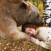Одежда ручной работы. Ярмарка Мастеров - ручная работа Вязаный свитер-платье - Медведь настоящий))). Handmade.
