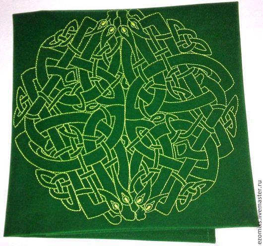 Гадания ручной работы. Ярмарка Мастеров - ручная работа. Купить Скатерть магическая Лабиринт. Handmade. Зеленый, аксессуар, сувенир, таро