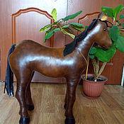 Для дома и интерьера ручной работы. Ярмарка Мастеров - ручная работа лошадь декоративная из натуральной кожи. Handmade.