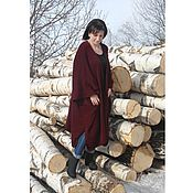 Одежда handmade. Livemaster - original item Ready. Large size. Cardigan-Cape. NEW. Handmade.