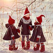 Работы для детей, ручной работы. Ярмарка Мастеров - ручная работа Костюм Гнома, гномика,пончо, пальто, дублёнка, куртка, шапка, колпачок. Handmade.
