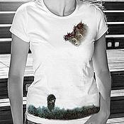 Одежда handmade. Livemaster - original item t-shirt hedgehog in the fog. Handmade.