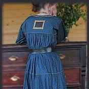 Одежда ручной работы. Ярмарка Мастеров - ручная работа Платье синее. Handmade.