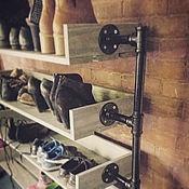 Полки ручной работы. Ярмарка Мастеров - ручная работа Стойка лофт для обуви. Handmade.