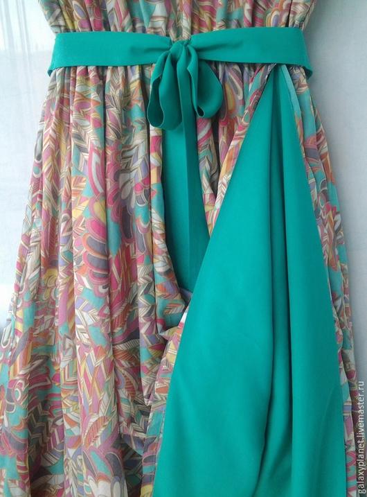 """Платья ручной работы. Ярмарка Мастеров - ручная работа. Купить Платье двухстороннее из """"фантазийного батиста""""без рукавов, юбка-солнце. Handmade."""