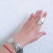 Украшения ручной работы. Ярмарка Мастеров - ручная работа Браслет и кольцо из мельхиора. Handmade.