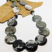 Работы для детей, handmade. Livemaster - original item Green Dol beads (jadeite, serpentinite) 50 cm. Handmade.