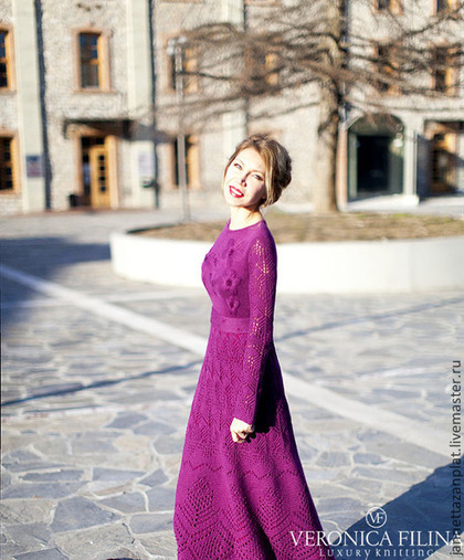 """Платья ручной работы. Ярмарка Мастеров - ручная работа. Купить платье """"Фольклор   """". Handmade. Фиолетовый, зимнее платье"""