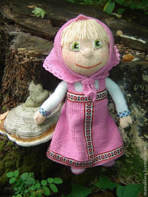 Обучающие материалы ручной работы. Ярмарка Мастеров - ручная работа. Купить Кукла Маша , мастер класс. Handmade. Маша, розовый