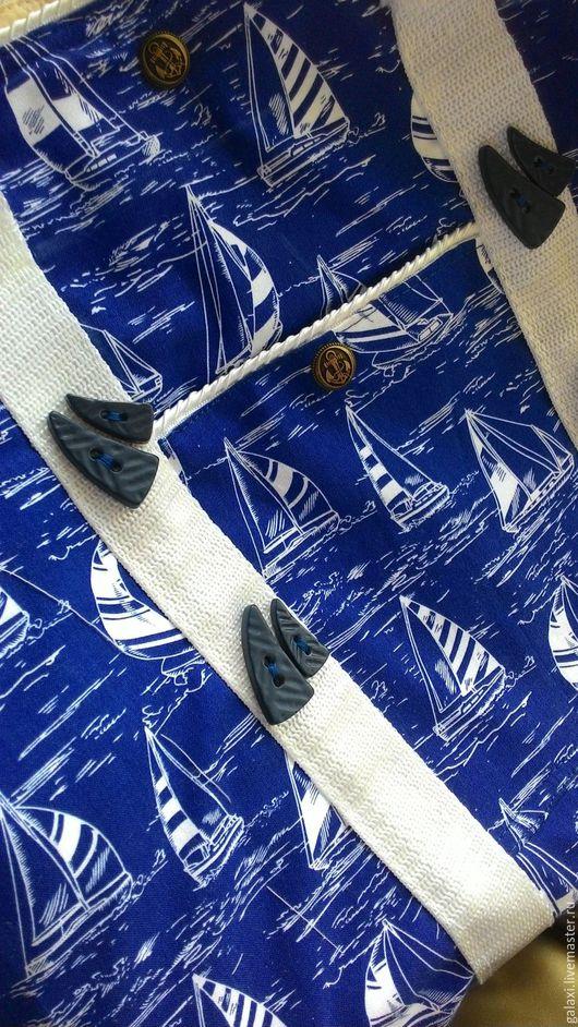 Женские сумки ручной работы. Ярмарка Мастеров - ручная работа. Купить Пляжная сумка Регата. Handmade. Комбинированный, сумка, морской