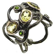 Rings handmade. Livemaster - original item Silver ring with citrine, dimensionless. Handmade.