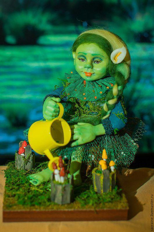 Коллекционные куклы ручной работы. Ярмарка Мастеров - ручная работа. Купить Кикимора Софи. Handmade. Морская волна, мухоморы, пастель