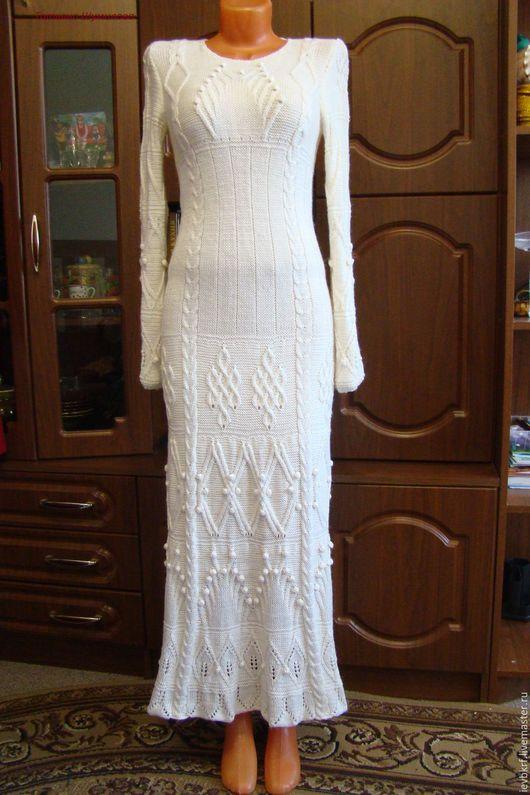 Платья ручной работы. Ярмарка Мастеров - ручная работа. Купить платье вязаное белое. Handmade. Белый, женская одежда