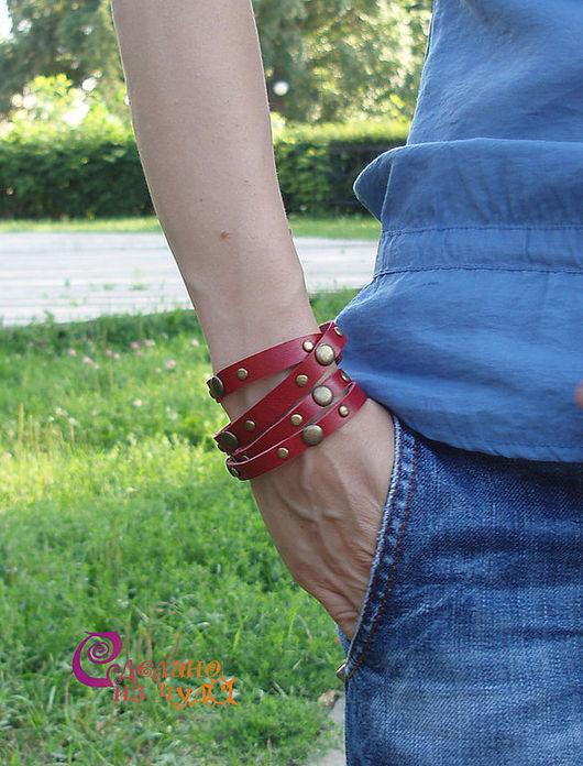 Браслеты ручной работы. Ярмарка Мастеров - ручная работа. Купить Кожаные браслеты «Модное лето». Handmade. Браслеты кожаные