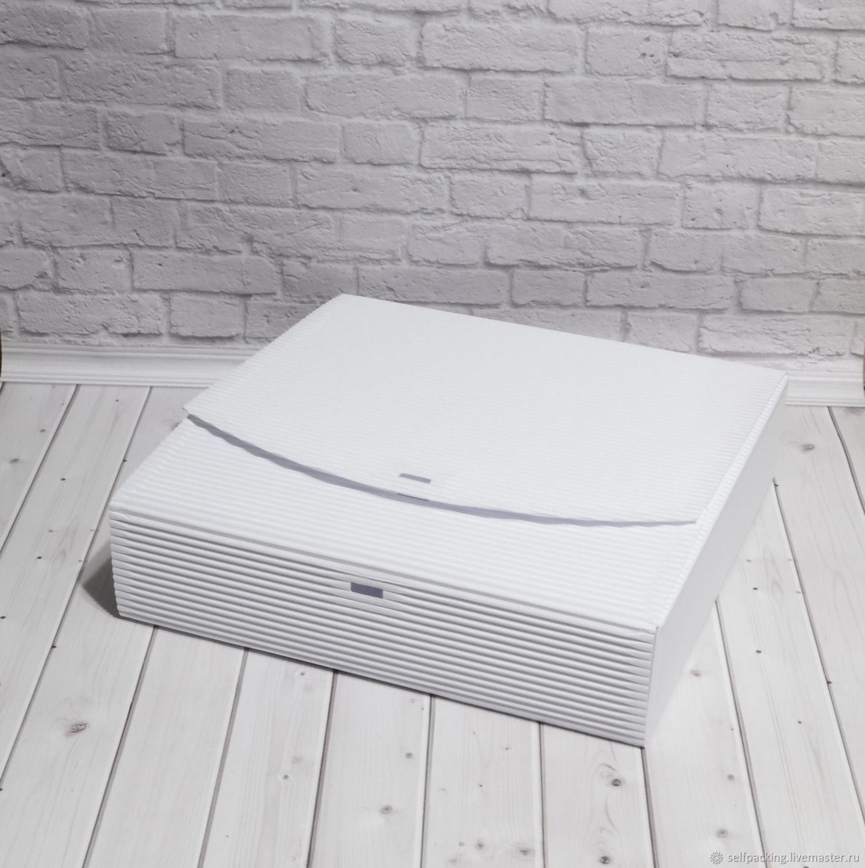 Коробка 25х25х6 см, двухслойный МГК, белый, Материалы для творчества, Москва, Фото №1