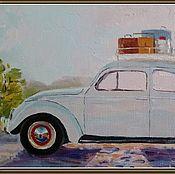 Картины и панно ручной работы. Ярмарка Мастеров - ручная работа Старичок путешественник. Handmade.