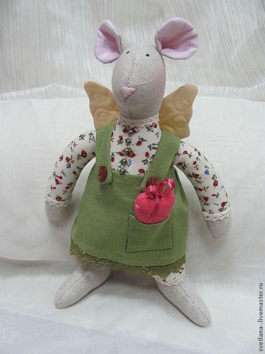 Куклы Тильды ручной работы. Ярмарка Мастеров - ручная работа. Купить Мышка Нора интерьерная кукла в стиле Tilda из льна. Handmade.