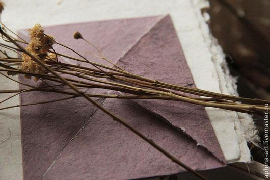 """Письменные приборы ручной работы. Ярмарка Мастеров - ручная работа. Купить """"Лесная ежевика"""" - конверты и бумага ручной работы. Handmade."""