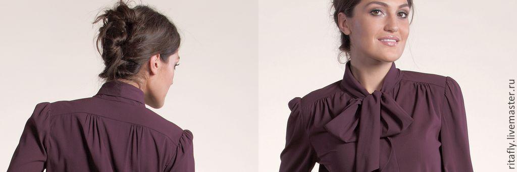 шелковая блуза фото