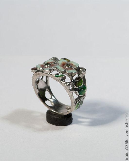 """Кольца ручной работы. Ярмарка Мастеров - ручная работа. Купить кольцо  """"Яблоня"""". Handmade. Серебро 925 пробы, кольцо с цветами"""