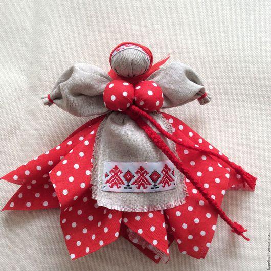 """Народные куклы ручной работы. Ярмарка Мастеров - ручная работа. Купить Народная куколка """" Капустка"""". Handmade. Ярко-красный"""