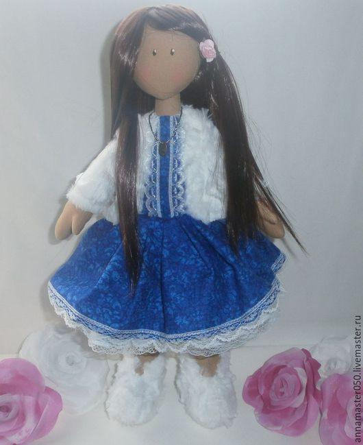 Куклы тыквоголовки ручной работы. Ярмарка Мастеров - ручная работа. Купить кукла  снежка  тыквоголовка. Handmade. Комбинированный, кукла из ткани