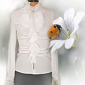 Блузки ручной работы. Ярмарка Мастеров - ручная работа Белая блузка трансформер.. Handmade.