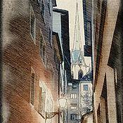 Картины и панно handmade. Livemaster - original item Zurich. Old town.. Handmade.