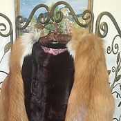 Одежда ручной работы. Ярмарка Мастеров - ручная работа Шуба норковая с рукавами из лисы. Handmade.