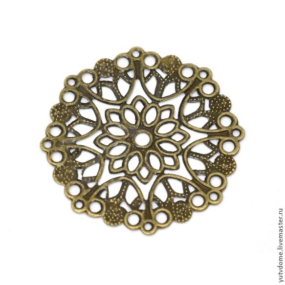 0080 Металлическое украшение бронза 3,5см, Бусины, Санкт-Петербург, Фото №1