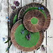 Сервизы ручной работы. Ярмарка Мастеров - ручная работа Сервиз цвета летнего леса, авторская посуда ручной работы. Handmade.