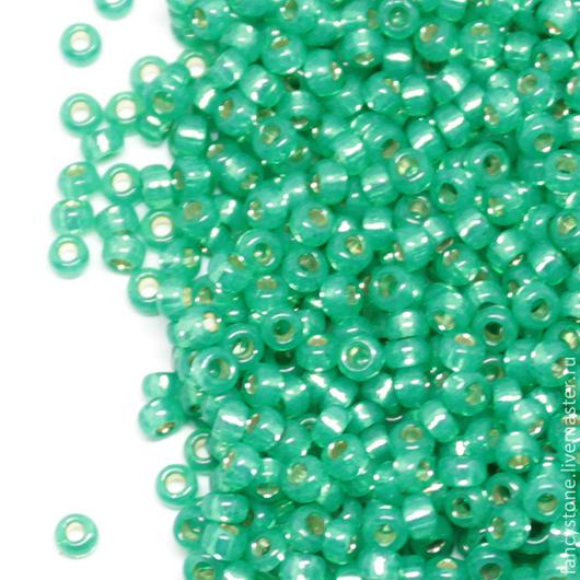 Для украшений ручной работы. Ярмарка Мастеров - ручная работа. Купить MIYUKI round 11/0 Green (646) Миюки круглый 10гр.. Handmade.